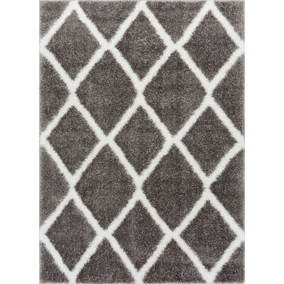 Puentes Shag Gray Area Rug Rug Size: Rectangle 33 x 5
