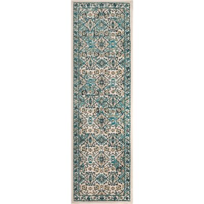 Luxury Vintage Look Green Area Rug Rug Size: Runner 23 x 77