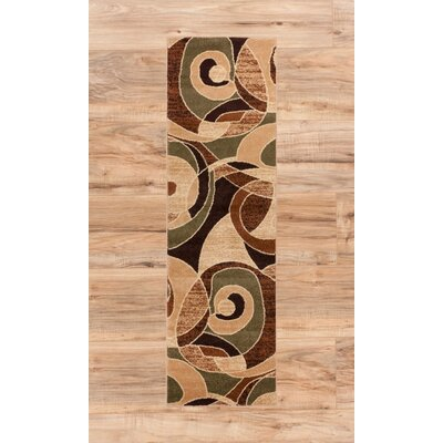 Alicea Zen Green/Brown Area Rug Rug Size: Runner 23 x 73