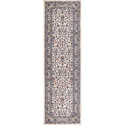 Luxury Vintage Look Blue Area Rug Rug Size: Runner 23 x 77