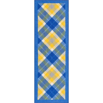 Kings Court Blue Area Rug Rug Size: Runner 2 x 7