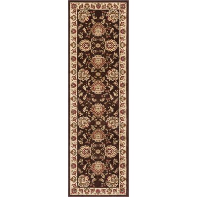 Colindale Traditional Soft Oriental Brown Area Rug Rug Size: Runner 23 x 73