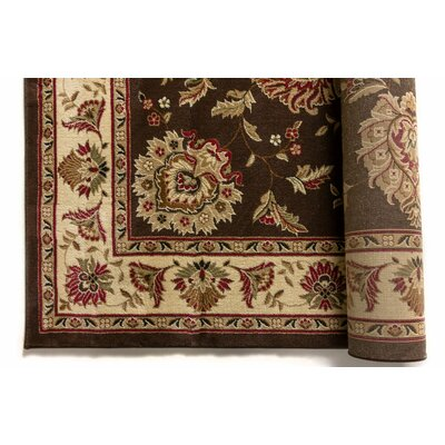 Colindale Traditional Soft Oriental Brown Area Rug Rug Size: 93 x 126
