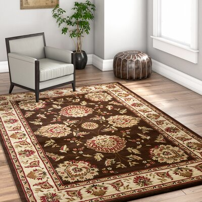 Colindale Traditional Soft Oriental Brown Area Rug Rug Size: 710 x 106