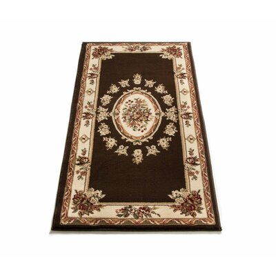 Colindale Traditional Medallion Brown Area Rug Rug Size: 311 x 53