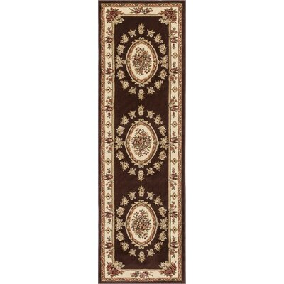 Colindale Traditional Medallion Brown Area Rug Rug Size: Runner 23 x 73
