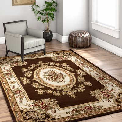 Colindale Traditional Medallion Brown Area Rug Rug Size: Runner 27 x 12