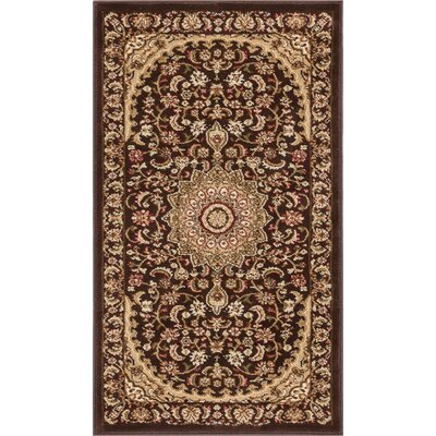 Colindale Traditional French Country Oriental Persian Brown Area Rug Rug Size: 53 x 73