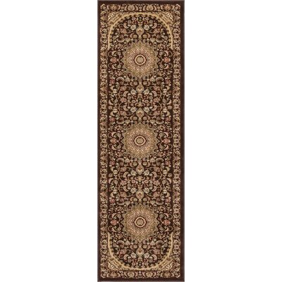 Colindale Traditional French Country Oriental Persian Brown Area Rug Rug Size: 67 x 93