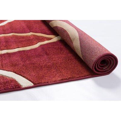 Bernard Chester Circles Modern Red Area Rug Rug Size: Runner 23 x 73