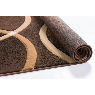 Bernard Chester Circles Modern Brown Area Rug Rug Size: Runner 23 x 73