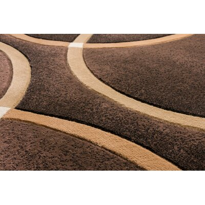 Bernard Chester Circles Modern Brown Area Rug Rug Size: Runner 27 x 10