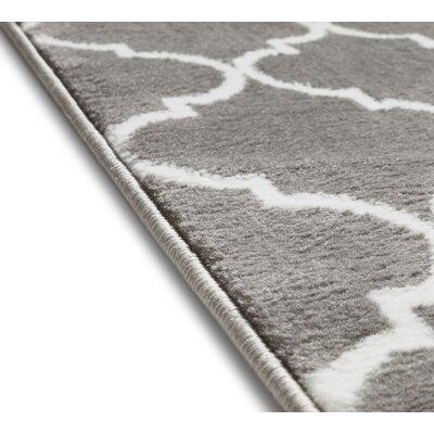Ruark Modern Grey Geometric Trellis Area Rugs Rug Size: Runner 2 x 73