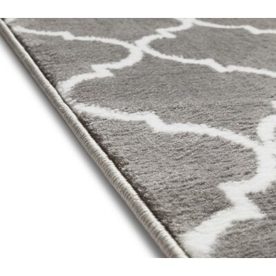 Ruark Modern Grey Geometric Trellis Area Rugs Rug Size: 33 x 5