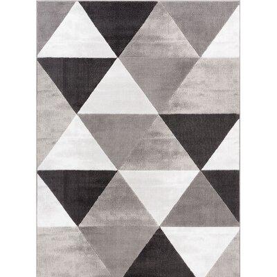 Ruark Mid-Century Modern Retro Shapes Gray Geometric Area Rug Rug Size: 710 x 910