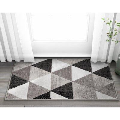 Ruark Mid-Century Modern Retro Shapes Gray Geometric Area Rug Rug Size: 27 x 311