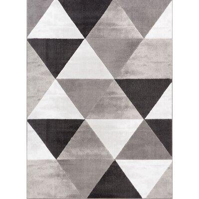 Ruark Mid-Century Modern Retro Shapes Gray Geometric Area Rug Rug Size: 33 x 5