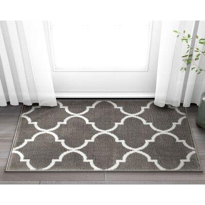 Ruark Modern Grey Geometric Trellis Area Rugs Rug Size: 27 x 311