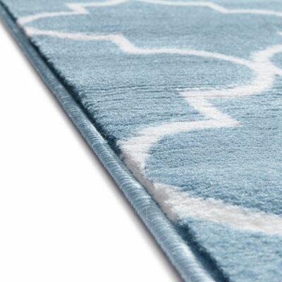 Ruark Modern Blue Geometric Trellis Area Rug Rug Size: 5 x 72