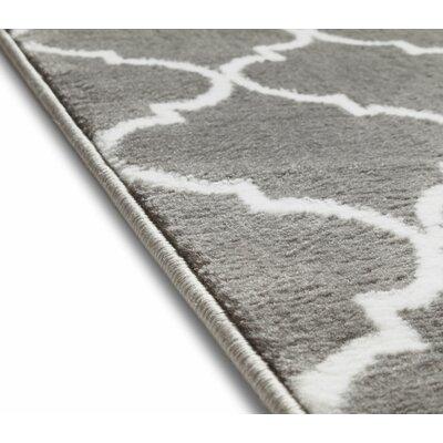 Ruark Modern Grey Geometric Trellis Area Rugs Rug Size: 710 x 910
