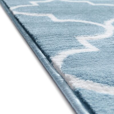 Ruark Modern Blue Geometric Trellis Area Rug Rug Size: Runner 2 x 73