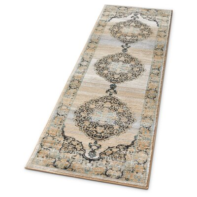 Coalgate Contemporary Blue Area Rug Rug Size: Runner 23 x 73