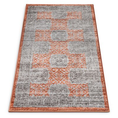 Arney Copper/Gray Area Rug Rug Size: 710 x 106