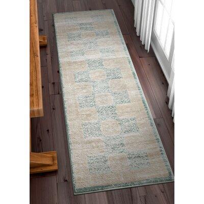 Carwill Blue Area Rug Rug Size: 53 x 73