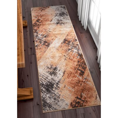 Anastacia Copper Area Rug Rug Size: Runner 23 x 73