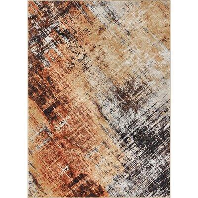 Anastacia Copper Area Rug Rug Size: 53 x 73