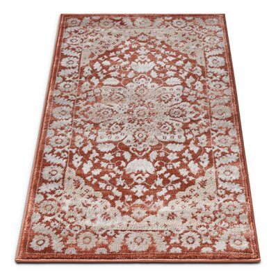 Coalgate Red Area Rug Rug Size: 53 x 73