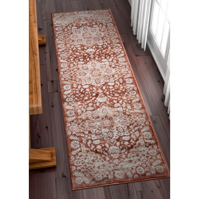 Coalgate Red Area Rug Rug Size: Runner 23 x 73