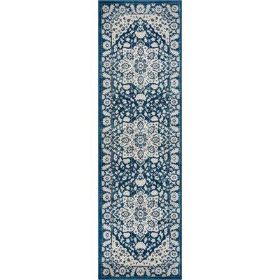 Coalgate Blue Area Rug Rug Size: Runner 23 x 73