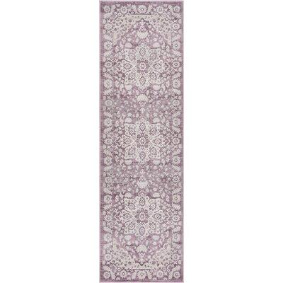 Coalgate Lavender Area Rug Rug Size: Runner 23 x 73