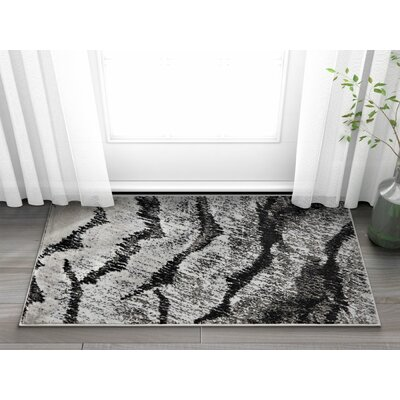 Shenelly Gray Area Rug Rug Size: 53 x 73