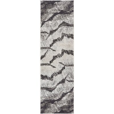 Shenelly Gray Area Rug Rug Size: Runner 23 x 73