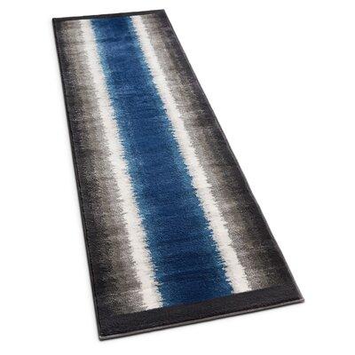 Rethman Blue Area Rug Rug Size: Runner 23 x 73
