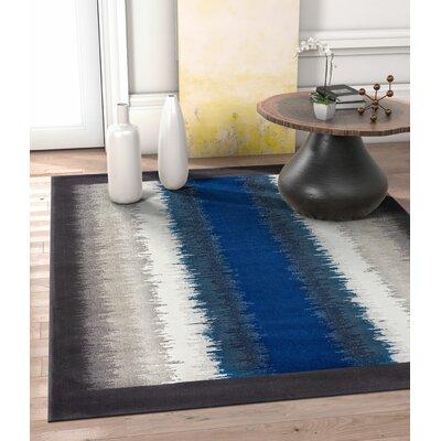 Rethman Blue Area Rug Rug Size: 53 x 73
