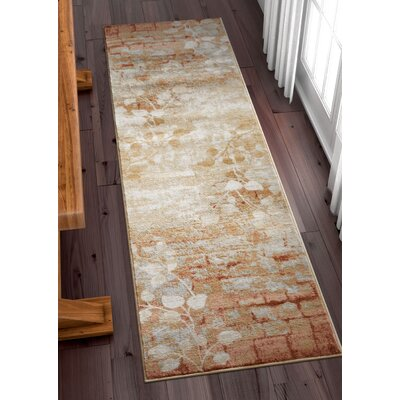 Coalgate Orange Copper Area Rug Rug Size: Runner 23 x 73