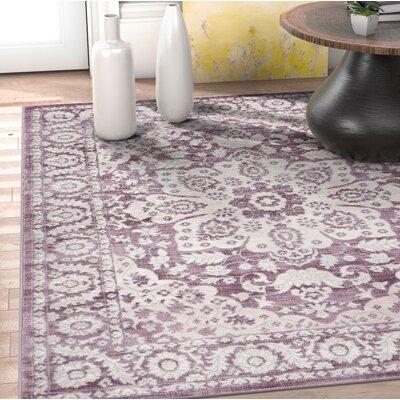 Coalgate Lavender Area Rug Rug Size: 53 x 73