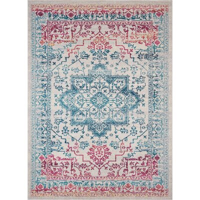 Juliana Monte Medallion Beige/Blue/Red Area Rug Rug Size: Rectangle 33 x 5