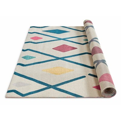 Gobeil Santa Fe Moroccan Trellis Geo Gray/Yellow/Green Area Rug Rug Size: Rectangle 53 x 73