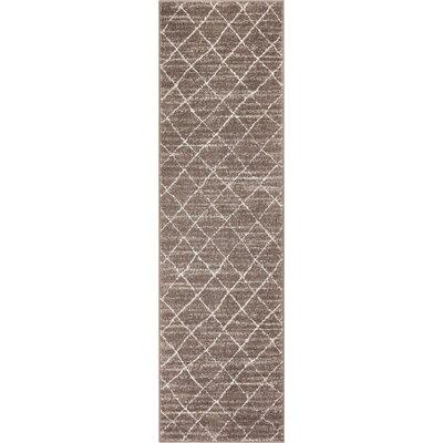 Vakte Modern Trellis Natural Area Rug Rug Size: Runner 23 x 73