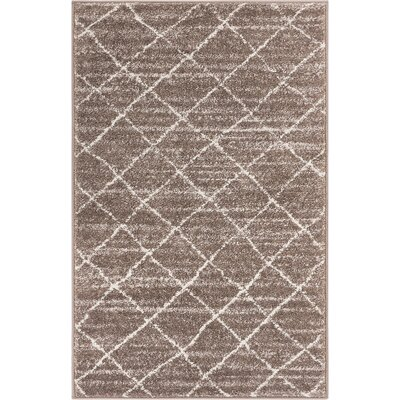 Vakte Modern Trellis Natural Area Rug Rug Size: Rectangle 23 x 311