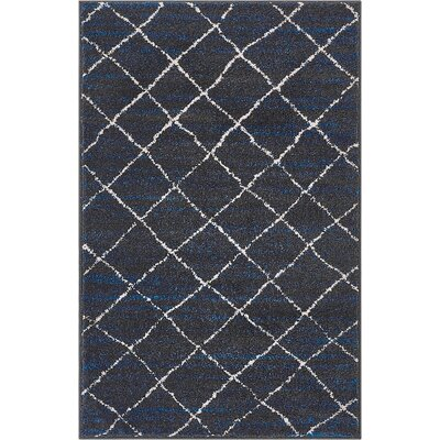 Vakte Modern Trellis Royal Blue/Gray Area Rug Rug Size: Rectangle 23 x 311