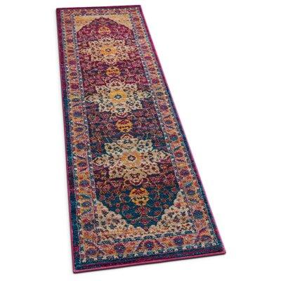 Binstead Vintage Oriental Distressed Persian Lavender Area Rug Rug Size: Runner 23 x 73