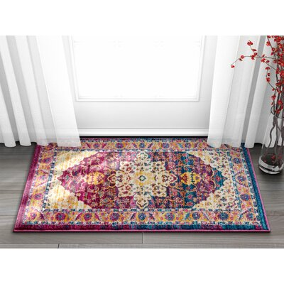 Binstead Vintage Oriental Distressed Persian Lavender Area Rug Rug Size: Rectangle 53 x 73