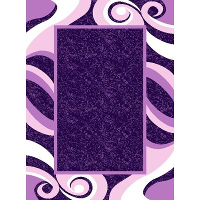 Harmony Purple Geometric Wesley Area Rug Rug Size: 710 x 910