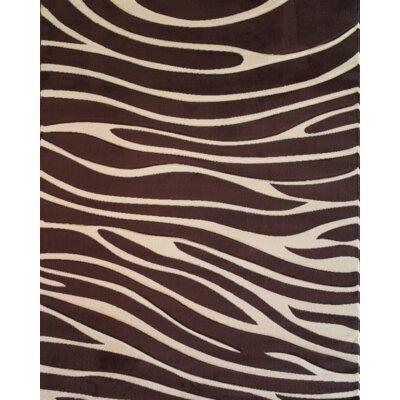 Melody Brown Zebra Animal Print Rug Rug Size: 710 x 910