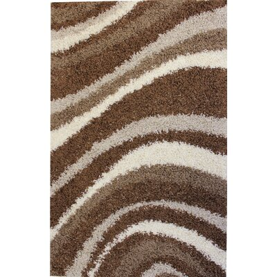Madison Shag Brown Sandbar Area Rug Rug Size: 33 x 53